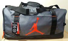 NIKE JUMPMAN AIR JORDAN SPORT DUFFEL Gym Basketball BAG BLACK GRAY RED 23 NEW