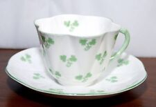 Shelley Dainty Shamrock Pattern Cup and Saucer English Bone China