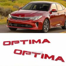 Side Front Trunk Mini Emblem Point Logo Badge Red for KIA 2016-2017 Optima K5