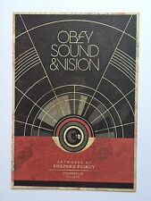 SHEPARD FAIREY, 'Sound and Vision' exhibition invitation card, London, 2012