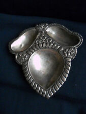 ANTIQUE RARE SOLID SILVER OYSTER DISH , 85 grams ,15 cm long , 14.8 cm width
