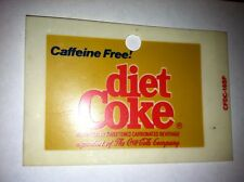 "Caffeine Free Diet Coke Vending Machine Insert, Solid Background, 3.25"" x 2.25"""