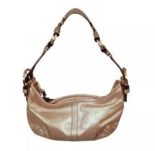 COACH :: NEW :: Glittery Metallic Gold Leather Suede Handbag Hobo Style Purse
