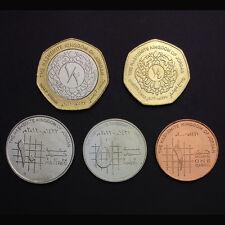 [Y-1] Jordan Set 5 Coins, 1+5+10 Piastres+1/4+1/2 Dinars, UNC