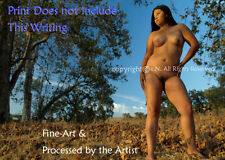 NUDE, BBW, Amateur woman, Naked Outdoors, Fine Art Photo, Direct from Artist