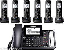 Panasonic 2 Line Bluetooth Corded 6 Cordless Link2Cell KX-TG9582B +4 KX-TGA950B