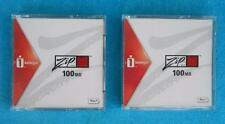iomega ~ 100 MB ZIP Disks ~ Discontinued and HARD to Find ~ LOT of TWO (2)  NEW
