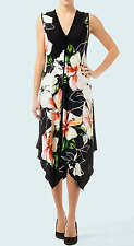 NWT New Joseph Ribkoff Coral Black White Green Spring Beach Dress US 8 UK 10