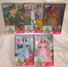 NIB NRFB Barbie Ken WIZARD OF OZ 5 Doll Lot 1999 Dorothy Tin Man Lion Scarecrow+
