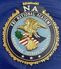 """FBI NA National Academy Full Color 3D Wall / Podium Signage 9"""" Tall X 8"""" Wide"""