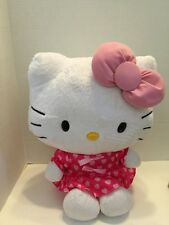 """Hello Kitty Push Sanrio Japan 16"""" Pink With Hearts And Bow"""