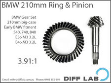 BMW M3 M5 M6 E36 E46 E60 E92 Diff Gears Ring and Pinion 210mm Motorsport 3.91
