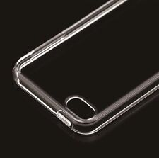 iPod Touch 6th Generation - CLEAR TPU Gummy Hard Rubber Transparent Case Cover