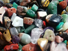 NEW 100 pcs Variety Gem MIX Multicolor stone beads Gemstone chip nugget bead lot