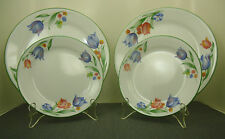 CORELLE FRESH CUT CORNING WARE 2 DINNER PLATES 10.25 AND 2 BREAD PLATES 7.25 LOT