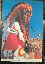 "THE NATIVE AMERICAN-WARFARE WITH DRUM-4""X6"" POSTCARD-(INDIAN4X6-105)"