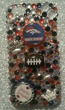 Denver Broncos NFL bling case 4 iPhone 4s,5,5s,5c,6,Samsung Galaxy S3,S4&S5
