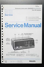 PHILIPS ELECTRONIC CLOCK-RADIO 90AS160 Original Service-Manual/Schaltplan! o34