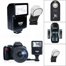 SLAVE VIVITAR FLASH + REMOTE + CHARGER + BATTERIES FOR NIKON D3400 D5600 DSLR