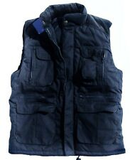 MENS BLUE BODYWARMER Gents large warm country jacket padded multi pocket coat