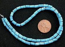 6x4 Dyed Howlite Turquoise Gemstone Tube Beads Strand
