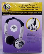 D&W Sound Travel Folding Noise Canceling Stereo Headphones  NEW