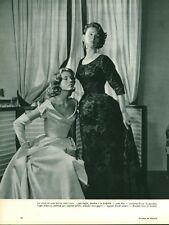 """Publicité Ancienne """" Mode Jacques Fath - Balenciaga  1953 ( P.33 )"""