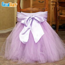 45*35cm Tutu Chair Skirt Wedding Chair Tutu Sash Tutu Cover Party Decoration C