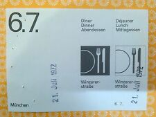6.7. Voucher Ticket  OTL AICHER HFG ULM OLYMPISCHE SPIELE 1972 MÜNCHEN MUNICH