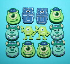 Monsters Inc Shoe Charms 12 Toys Favours Cupcake Toppers Piñata University NEW