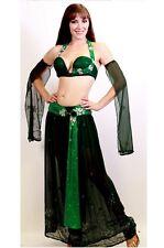 Professional Bellydance Belly Dance Bellydancing Green Lexi Pants
