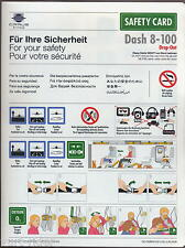 CIRRUS LUFTHANSA CITY LINE Dash 8-100 Drop-Out safety card very good cond sc442