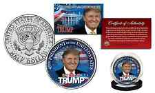 DONALD TRUMP Colorized JFK Half Dollar U.S. Coin - Limited Edition of 500 Only