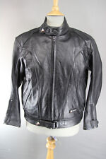 AKITO X-FORCE BLACK LEATHER BIKER JACKET WITH REMOVABLE THERMAL LINING 42 INCH