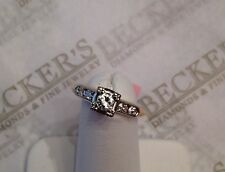 Antique Art Deco 14k tt 5 Diamond Engagement Ring .27 tw JK-VS1,2 sz 5.75