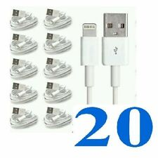 20xCabls For Apple iPhone 5,5c, 5s, 6 iPad Charger Lead Cable Wholesale Job Lot