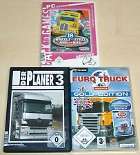 3 PC SPIELE SAMMLUNG 18 WHEELS OF STEEL PEDAL TO THE METAL PLANER EURO TRUCK SIM