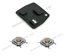 for Toyota Corolla 2 button remote key DIY Repair Kit rubber pad and 2 switches