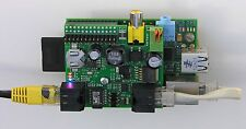Raspberry Pi compatible Power over Ethernet PoE adaptor + Real Time Clock