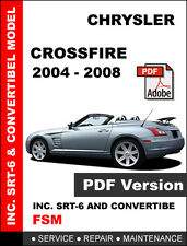 CHRYSLER CROSSFIRE 2004 - 2008 ULTIMATE FACTORY OEM SERVICE AND REPAIR MANUAL
