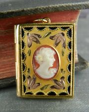 Gold Filled Cameo Locket Pendant