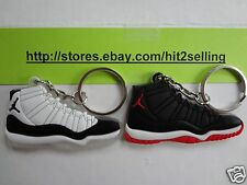 TWO AIR JORDAN Retro - Keychain Set Cork Bin DB KD HEATS MVP 1,3,5,6,7,9,11 NEW!