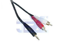 "4' ft Twin RCA Male to 1/8"" 3.5mm jack Audio Cable/Lead MP3/Ipod/PC to TV/Stereo"