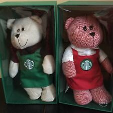 Starbucks Set Of 2 Limited Edition 2016 Bearista Bears New Collectible Gift
