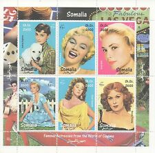 MARILYN MONROE AUDREY HEPBURN GRACE KELLY SUSAN HAYWARD MNH STAMP SHEETLET