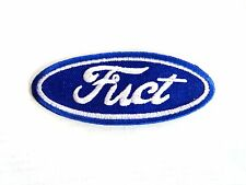 Hot Rod Patch FUCT Badge Ford Drag Race Novelty Biker Motorcycle iron On