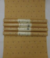 Country Wallpaper Burgundy Leaves Rust Faux Background #RF3691 (Lot of 4 Rolls)