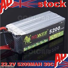 Lion 22.2V 5200MAH 30C Polymer li-ion battery for Helicopter RC Ship Aircraft oz