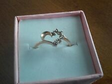 10k Yellow Gold Heart Ring With Mini Diamonds Size 7
