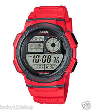 AE-1000W-4A Red Casio Men's Watches Standard Digital 10-Year Battery Alarm New